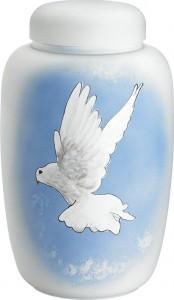 Hvid med due