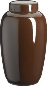 Keramik mørkebrun